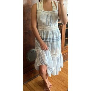 Urban Outfitters Blue and White Maxi Dress
